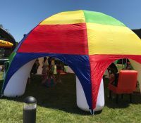Inflatable Multicolored Tent