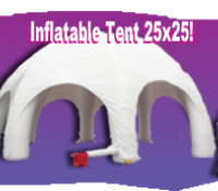 Inflatable White Tent