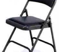 Black Metal Chairs (Padded)