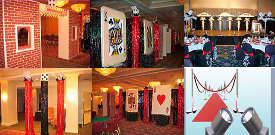 Casino Themed Decor Rentals for Parties in Boston