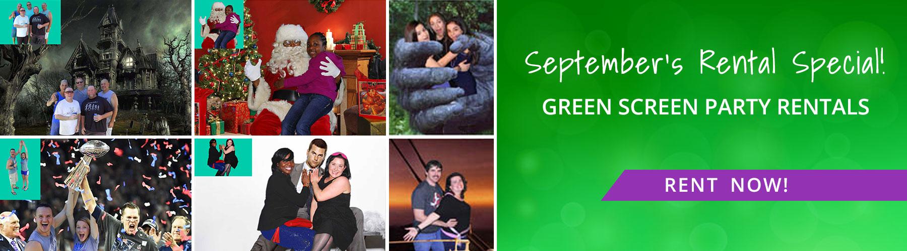 September Rental: Green Screens