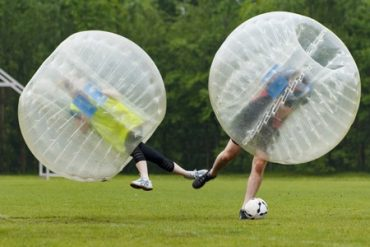 Get Together With Friends for a Game of Bubble Ball Soccer