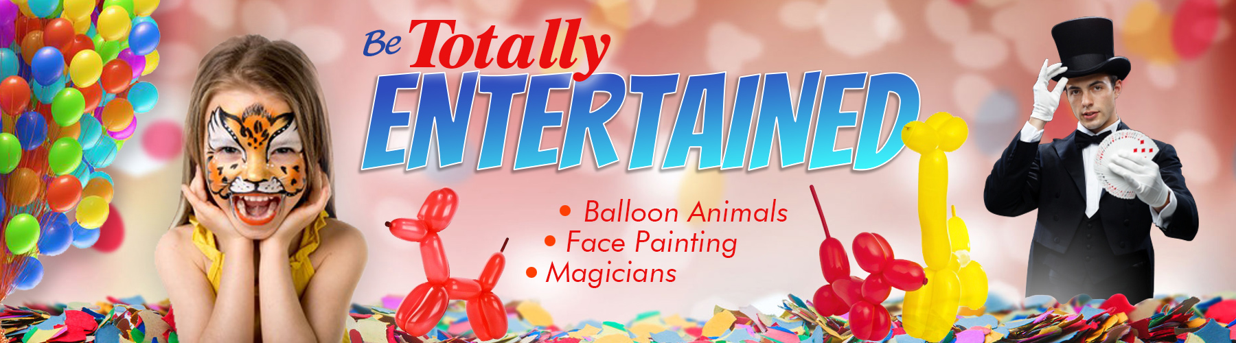 balloon artist – face painting – magicians